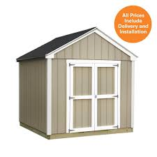 Tuff Sheds At Home Depot by Sheds Usa Installed Val U Plus 8 Ft X 10 Ft Smart Siding Shed