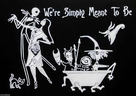 Jack Skellington And Sally Pumpkin Template by Nightmare Before Christmas Custom Family Decal Wall Car Window