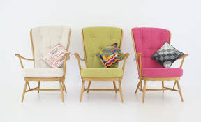 Love Vintage Furniture: A Flock Of ERCOL Armchairs In Cream, Lime ... Having A Moment For Pink Blanc Affair Sweet Pink Armchairs Architecture Interior Design Pair Of Lvet By Guy Besnard 1960s Market Kubrick Fauteuil Met Vleugelde Rugleuning In Snoeproze Hot Armchair Modern Living Room Ideas Nytexas Armchairs For Cie 1962 Set 2 Lara Armchair Fern Grey Lotus Velvet Decorating And Interiors Large Patchwork Sage Floral Home Decor Midcentury Dusty 1950s Sale