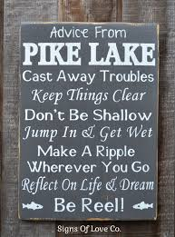 100 River House Decor Lake Advice From A Lake Sign Advice From A
