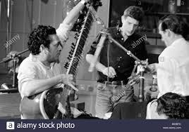 99 Studio Ravi Shankar Playing The Sitar In A BBC Sound Studio At Television