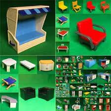 details zu playmobil puppenhaus küche möbel wohnzimmer schlafzimmer wc pm62