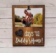 Military Deployment Days Countdown Calendar Reusable Chalkboard Tracker For Until Daddys Or Mommys