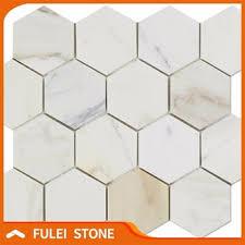 polished calacatta gold hexagon marble mosaic floor tile buy