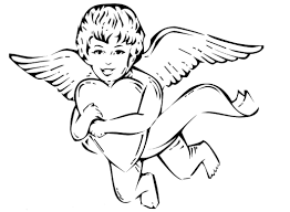 Cupid Valentine Coloring Pages For Kids Boys