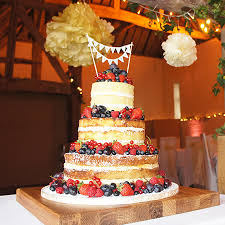 Naked Wedding Cake At The Queens Eyot
