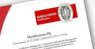 logo bureau veritas certification quality certification for herkkumaa s mayonnaises and sauces