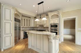 only then charleston cherry saddle and antique white kitchen