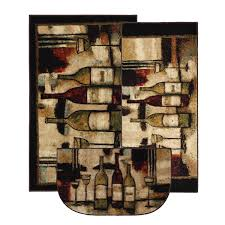 amazon com mohawk home new wave wine and glasses printed rug 3