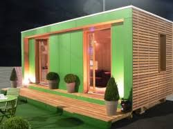 bureau de vente immobilier bulle de vente en bois pour promoteurs immobiliers bureau vert