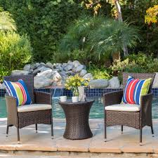 3-piece Outdoor Wicker Chat Set With Cushions By Christopher Knight ... Red Barrel Studio Dierdre Outdoor Wicker Swivel Club Patio Chair Cosco Malmo 4piece Brown Resin Cversation Set With Crosley Fniture St Augustine 3 Piece Seating Hampton Bay Amusing Chairs Cushions Pcs Pe Rattan Cushion Table Garden Steel Outdoor Seat Cushions For Your Riviera 4 Piece Matt4 Jaetees Spring Haven Allweather Amazoncom Festnight Ding Of 2