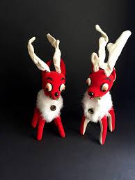 Pair Of Herman Pecker Reindeer Made In Japan Vintage Christmas By On Etsy
