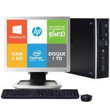 pc de bureau hp ordinateur de bureau hp elite 8200 dual 4go ram 1to disque dur