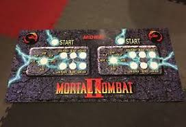 Mortal Kombat Arcade Machine Moves by Mortal Kombat 2 Arcade Control Panel Overlay 6 Button Mk2 Mkii Cpo