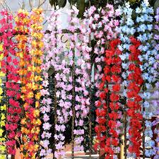 Free Shipping Cuckoos Flower Vine Rustic Artificial Wholesale Flowers Azalea Rattan Wedding Decorative