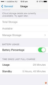 After charging to  and unplugging it the percentage
