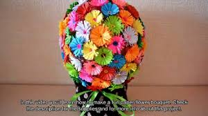 How To Make A Fun Paper Flower Bouquet Diy Crafts Tutorial In Craft Ideas For Decoration Videos