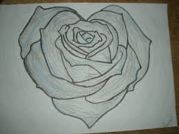 Roses And Heart Drawing 1975991 License Personal Use