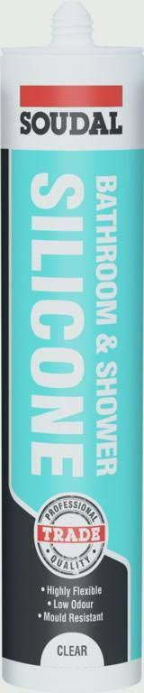 Soudal Bath Shower Silicone 300ml - Clear