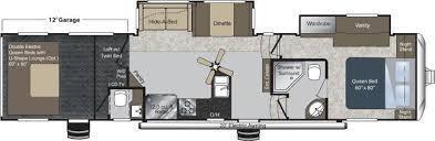 Raptor 5th Wheel Toy Hauler Floor Plans by 2011 Keystone Raptor 365lev Fifth Wheel Riceville Ia Gansen Auto