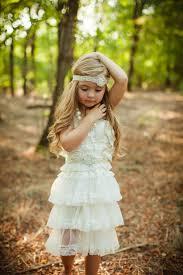 Flower Girl Dress Lace Rustic