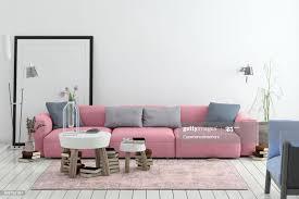 moderne nordische wohnzimmer interieur mit sofa und viele