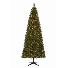 9 Ft Flocked Pencil Christmas Tree by Pre Decorated Pre Lit Christmas Trees Artificial Christmas