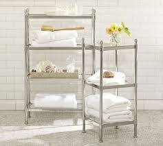 Bathroom Etagere Over Toilet Chrome by Metal Etagere Pottery Barn