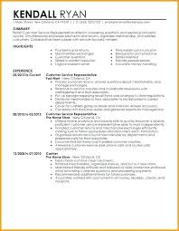 Qualifications Resume Examples Highlights Service Representative Of Sample