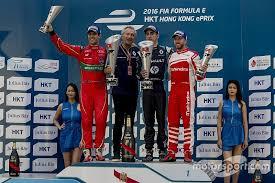 formula e hong kong eprix 2016 podium race winner sebastien buemi