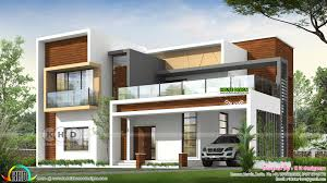 100 Contempory House 2852 Square Feet Flat Roof Contemporary House Plan Kerala