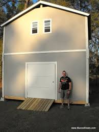 Wood Sheds Jacksonville Fl by 2 Story Shed Cabin Barn Assembled In 1 Day Prefab Elements Youtube