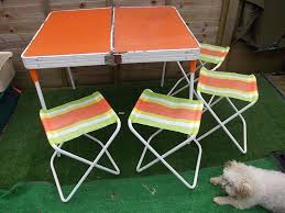 Retro Camping Table And Chairs   Sante Blog Antique Stakmore Louis Rastter Sons Folding Wooden Leather Chairs Set Of 7 1940 Wood Related Keywords Suggestions Midcentury Retro Style Modern Architectural Vintage French Cane Back 6 Mid Century Camping Table And Sante Blog Aptdeco Folding Chairs Are Ideal For Accommodating Extra Details About Chippendale Chair 2 3