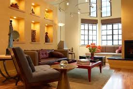 recessed lighting design living room contemporary with