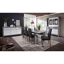 esszimmer kombi gronau 55 in weiß matt und haveleiche nb mit buffet und sideboard ohne stühle
