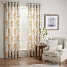 pandora ochre lined eyelet curtains dunelm new lounge