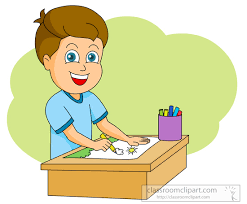 Art Supplies Clipart boy drawing 1030 Classroom Clipart
