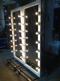 theatre vanity mirror with lights make up chairs mirrors black