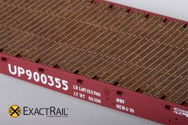 HO Scale: GSC 53'-6 Flat Car - 42' Truck Centers - MoW Brown 900355 ...