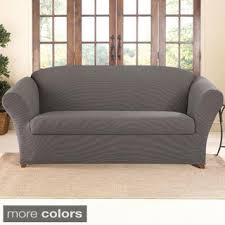 sure fit stretch suede 2 piece sofa slipcover okaycreations net