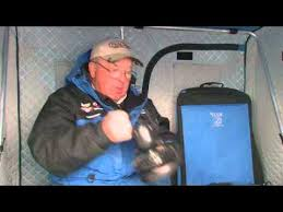 Clam Ice Fishing Seats by Dave Genz Talks About Clam Ice Fishing Accessories Youtube