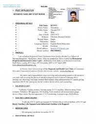 Nursing Resume Format Nurses Pdf In Full Size