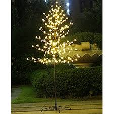 6ft Christmas Tree With Decorations by Amazon Com Lighted Christmas Tree Ucharge Cherry Blossom Led