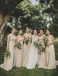 Backyard Australian Wedding Neutral Bridesmaids