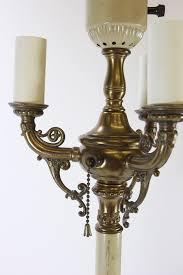 Rembrandt Floor Lamp With Table by Rembrandt Art Nouveau Mogul Floor Lamp Brass U0026 Cream Enameled