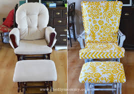 Chair Slip Cover Pattern by Update A Nursery Glider Rocking Chair The Diy Mommy