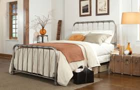 Elegant White Metal Headboard King Size Wrought Iron Bed Frame