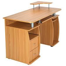 bureau pour ordinateur bureau informatique multimédia 115 cm x 55 cm x 87 cm tectake