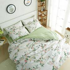Winlife Rustic Floral Bedding Set 100 Cotton Duvet Cover Set