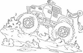 Coloring Pages For Kids Monster Truck With Drawing Monster Truck ...